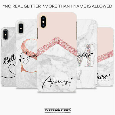 AU11.31 • Buy Personalised Initials Silicone Phone Case Cover For Apple Iphone Xr 7 8 X Xs Max