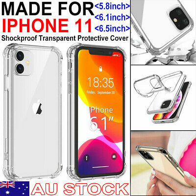 AU5.99 • Buy 【Shockproof】iPhone 11/Pro/Max Clear Case Bumper Crystal Slim Cover Silicone TPU