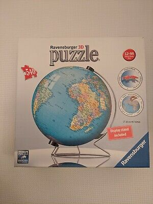 $14.99 • Buy Ravensburger 3D Globe Jigsaw Puzzle 540 Pieces Excellent Condition Gift