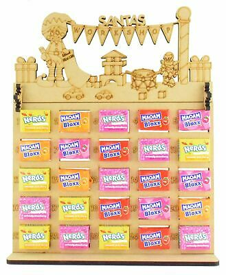 £6.99 • Buy Maoam Bloxx & Nerds Candy Sweets Christmas Advent Calendar With Santas Workshop