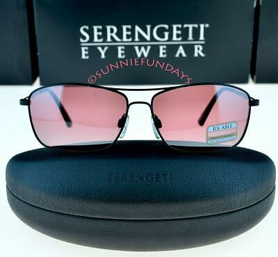 $136 • Buy SERENGETI Corleone Satin Black POLARIZED PHOTOCHROMIC GLASS Sedona BiMirror 8417