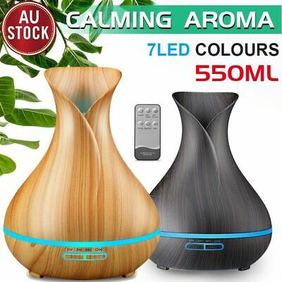 AU31.99 • Buy Aroma Aromatherapy Diffuser LED Essential Oil Ultrasonic Air Humidifier Purifier