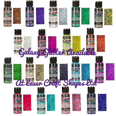DecoArt Galaxy Glitter Acrylic Craft Paint 2oz. 18 Colours. Same Day Dispatch • 5.99£