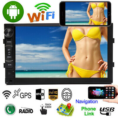 7 Inch Android 8.1 Double Din Auto GPS Navi Car Radio Stereo WiFi For Audi A3 A4 • 59.99£