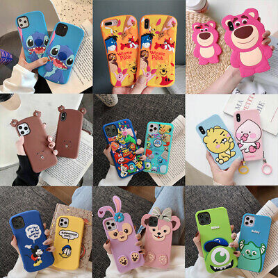 AU11.77 • Buy For IPhone 11 Pro XS Max X 7 8+ Cute Cartoon Bear Silicone Shockproof Case Cover