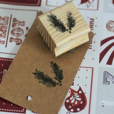 East Of India Fir Tree Rubber Stamp - Christmas Craft Xmas Scrapbook • 3.95£