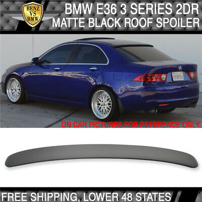 $65 • Buy USA Stock 92-98 BMW E36 3 Series 2Dr Painted Matte Black Roof Spoiler - ABS