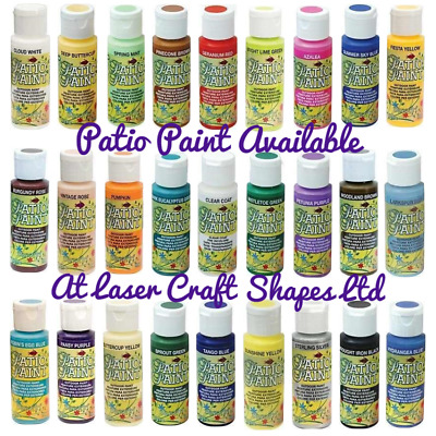DecoArt Patio Paint Outdoor Acrylic Craft Paint 2oz 56 Colours Same Day Dispatch • 5.99£