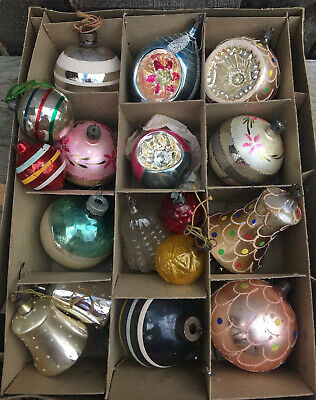 $ CDN92.49 • Buy Vintage Shiny Brite, West Germany, Poland, Christmas Ornaments Indent Mica