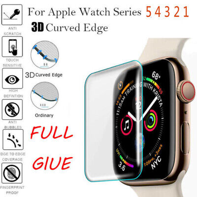 $ CDN2.38 • Buy For Apple Watch Series 5 4 3 3D Full Case Cover Tempered Glass Screen Protector