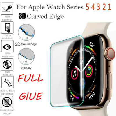 $ CDN2.98 • Buy For Apple Watch Series 5 4 3 3D Full Case Cover Tempered Glass Screen Protector