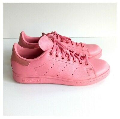 $ CDN135 • Buy Adidas Originals Stan Smith Women US 7 Pink Leather Lace-Up Athletic Sneakers