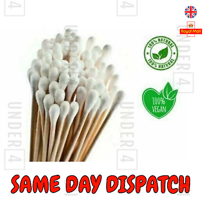 $ CDN3.50 • Buy Bamboo Cotton Buds Biodegradable Vegan Eco Friendly Wooden Organic Ear Bud QTips