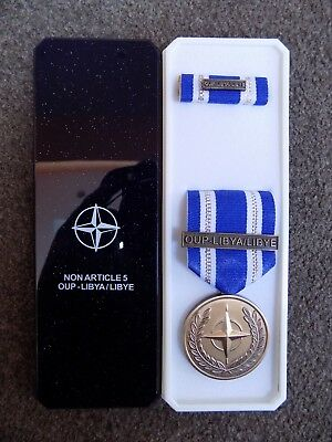Genuine Nato Medal For Libya / Libye In Named Box Of Issue - Excellent Condition • 14.95£