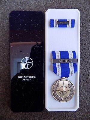 Genuine Nato Medal For Africa In Named Box Of Issue - Excellent Condition • 14.95£