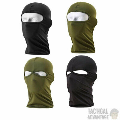 Tactical 1 2 Hole Lightweight Balaclava Mask Airsoft Paintball Army Green Black • 4.49£