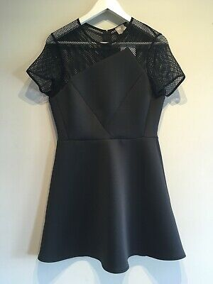 AU34 • Buy ASOS Dress BNWT Size 14 Fit & Flare Black Mesh
