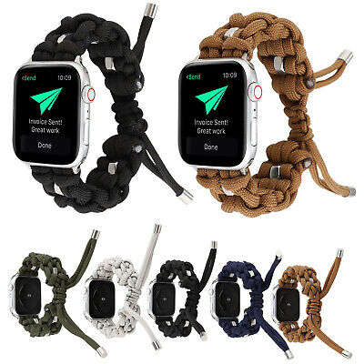 $ CDN15.47 • Buy 44/40/42/38mm Stretch Strap For Apple Watch Series 5 4 3 2 Woven Nylon Rope Band
