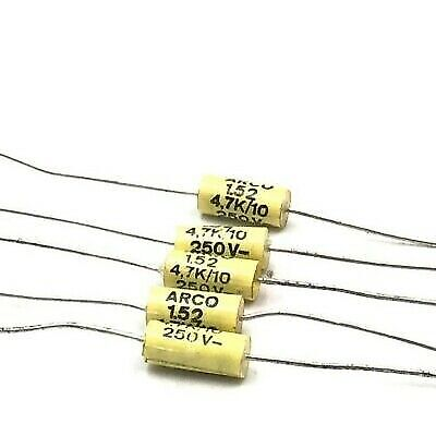 £3.18 • Buy 4.7nf 4700pf 250v Axial Polypropylene Film Capacitor Arcotronics Qty:5