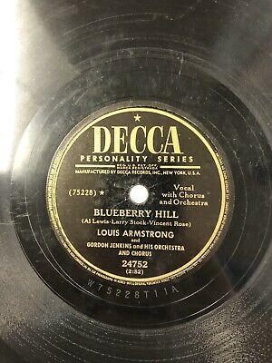Louis Armstrong Decca 78 RPM Record 24752 Blueberry Hill Jazz VG R1 • 24.75$