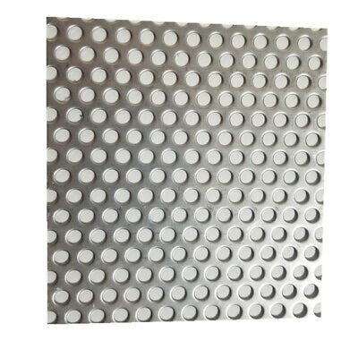 £8.86 • Buy 5mm Hole X 8mm Pitch X 1mm Thick 304 Stainless Steel Perforated Mesh Sheet DIY