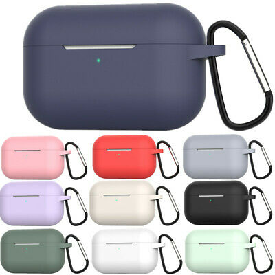 AU5 • Buy For Apple AirPods Pro 2019 Charging Case Color Silicone Protective Cover + Hook