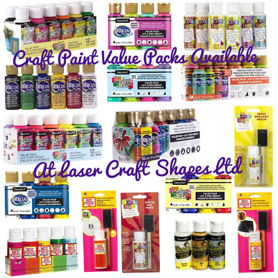 DecoArt Crafters Acrylic Value Packs Metallic Extreme Sheen Craft Art Paints • 6.99£