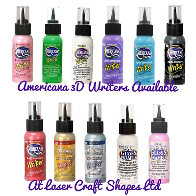 3D Acrylic Dimensional Writer 2oz Gloss Enamels Dazzling Metallics Craft Paint • 5.99£