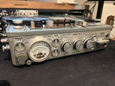 Nagra Kudelski IV-L 3 Head Portable Reel Tape Recorder PERFECT WORKING CONDITION • 1,980£