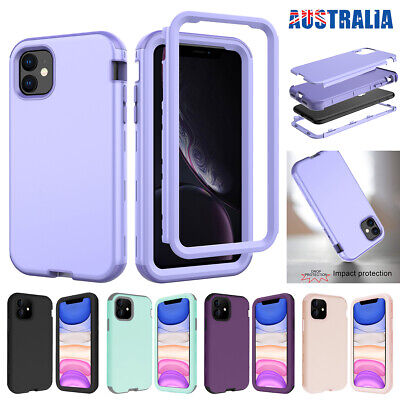 AU13.89 • Buy For IPhone 11 Pro Max SE 7 8 Case Hybrid Rubber Shockproof Heavy Duty Hard Cover