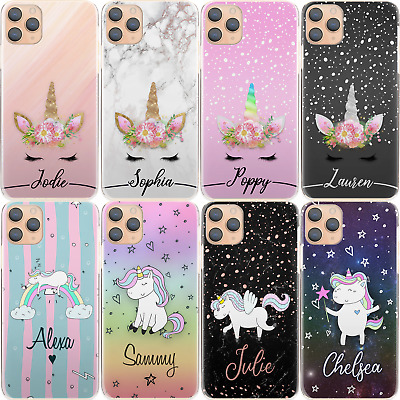 Personalised Initial Phone Case, Unicorn Rainbow Star Hard Cover For Huawei P/Y • 6.99£