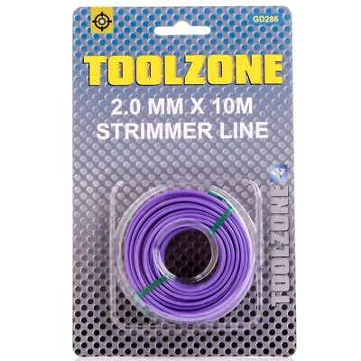 £4.05 • Buy GARDEN TRIMMER LINE 2mm X 10m Round Long Life Nylon Cable Bushcutter Strimmer