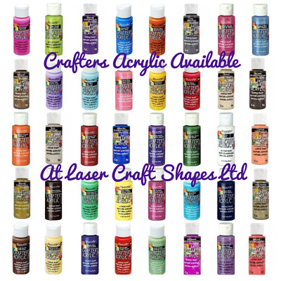 DecoArt Crafters Acrylic Craft Art Paint - All Purpose 59ml 2oz - 84 Colours • 4.99£