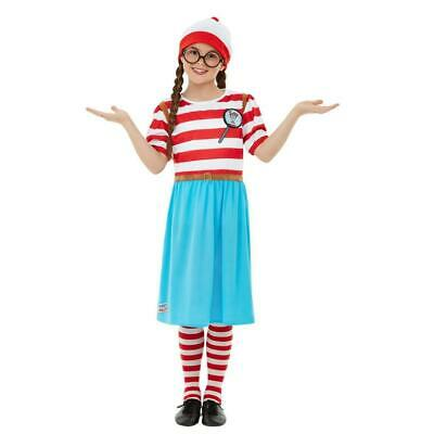 £21.85 • Buy Officially Licensed Childrens  Where's Wally? Wenda Deluxe Fancy Dress Costume