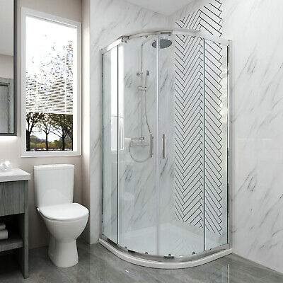 £121.99 • Buy 900 X 900 Quadrant Shower Enclosure And Tray 6mm Easy Clean/Tempered Glass
