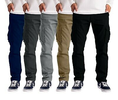 £17.99 • Buy Mens Cargo Trousers Work Wear Combat Safety Cargo 6 Pocket Full Pants Size 32-44