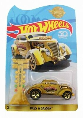 HOT WHEELS 2018 50th Anniversary PASS'N GASSER Gold Promo Mail In • 16.99$