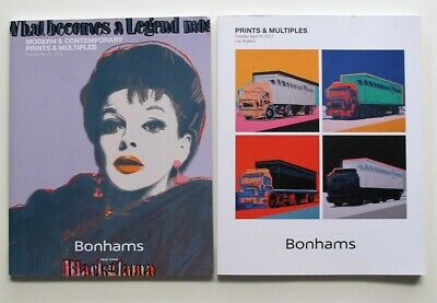 $15 • Buy 2 BONHAM'S PRINTS & MULTIPLES ART CATALOGS - 2017 & 2018  - Andy Warhol Covers -
