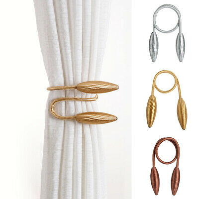 Curtain Tie Backs Magnetic Curtain Tieback Crystal Backs Buckle Clips For Home  • 6.69£