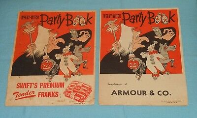 $ CDN79.27 • Buy Vintage Halloween WEENY-WITCH PARTY BOOK LOT X2 Armour & Swift's Premium Franks