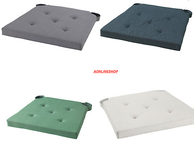 2 IKEA JUSTINA  Chair Pad Natural Padded Chair Seat Pads Cushions Original  • 16.99£