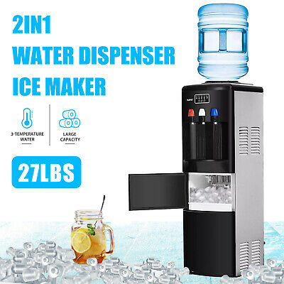 $1259.90 • Buy 2IN1 Electric Hot Cold Water Dispenser Built-in Ice Maker Machine Safety Lock