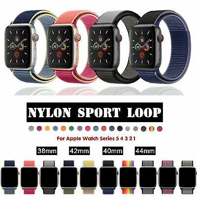$ CDN5.40 • Buy For Apple Watch 38/42/40/44mm Nylon Sport Loop Band Strap IWatch Series 54 3 21