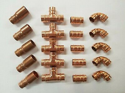 20 X 10mm Yorkshire Type Fittings Pack Coupling Elbow Tee Reducer Gas Water • 12.99£