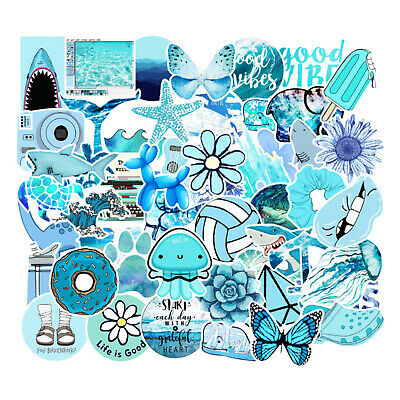 $7.99 • Buy Cute VSCO Laptop Stickers Vinyl (53 PC) Pack For For Teens Laptop, Hydro Flask