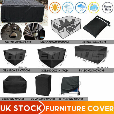 £6.99 • Buy Heavy Duty Garden Patio Furniture Cover Table Square Cube Outdoor Covers UK