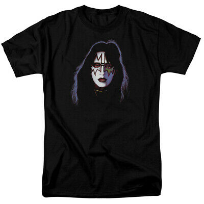 Kiss Ace Frehley Cover T Shirt Licensed Hard Rock N Roll All Night Black  • 17.99$