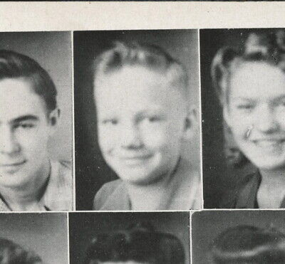 $3000 • Buy Neil Armstrong Signed 1945 High School Yearbook JSA