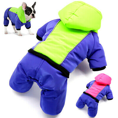 £7.79 • Buy Small Dog Coats For Winter Chihuahua Clothes Jacket Jumpsuit Hoodie Jack Russell