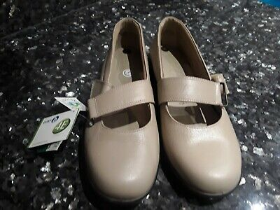 Easy B Sunny 78338H  Ladies Slip On Beige Leather Shoes UK 3,6 /& 7 2V Fit R41A